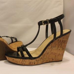 NWOB Jessica Simpson Black Cork Wedge Sandal 10